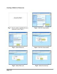 Creating a Weblink in Resources Fig 1 - How to create a website link ...