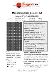 Datenblatt Solarmodul Engcotec TP660P-220/230 ... - Engcotec Gmbh