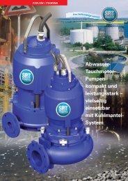 Abwasser-Tauchmotorpumpen mit Kühlmantel ... - SPT Pumpen
