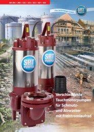 Verschleißfeste Tauchmotorpumpen für Schmutz ... - SPT Pumpen