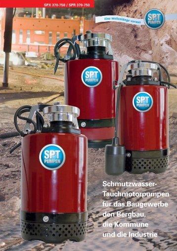 (230 V Wechselstrom) SPX/SPR 370 - 750 - SPT Pumpen