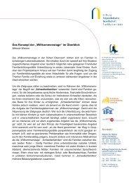 """Das Konzept der """"Willkommenstage"""" im Überblick - Stiftung ..."""