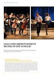 jazz und improvisierte musik in die schule! - Stiftung Polytechnische ...