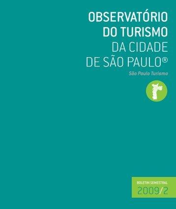 OBSERVATÓRIO DO TURISMO DA CIDADE DE SÃO PAULO®