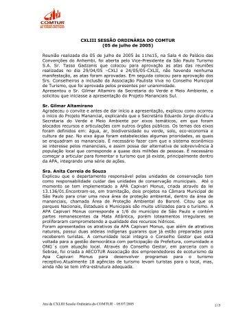 143ª Reunião do COMTUR - São Paulo Turismo