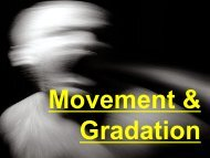 Movement & Gradation