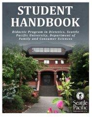 Student Handbook - Seattle Pacific University