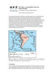 Die Anden - ein natürliches Labor der Plattentektonik