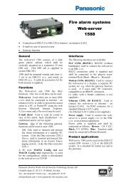 Fire alarm systems Web-server 1588 - CANBROC Security Group