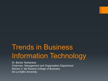 Trends in Business Information Technology