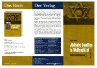 Jüdische Familien in Wolfenbüttel Spuren und Schicksale