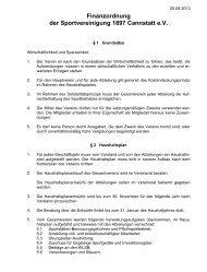 Finanzordnung der Sportvereinigung 1897 Cannstatt e.V.
