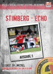 Stimberg-Echo SV Zweckel - SpVgg Erkenschwick