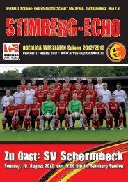 Stimberg-Echo SV Schermbeck - SpVgg Erkenschwick