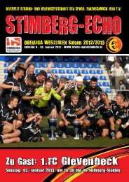 Stimberg-Echo 1.FC Gievenbeck - SpVgg Erkenschwick