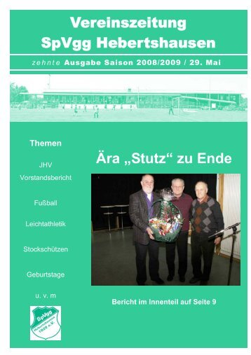 Entwurf 10. Ausgabe Saison 2008_2009 Printfassung - SpVgg ...