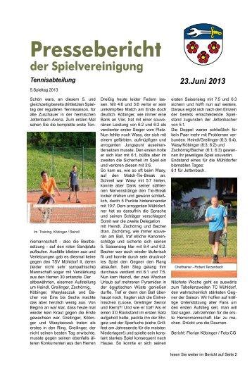 Spielberichte 5.Spieltag 2013 - SpVgg Jettenbach e.V.
