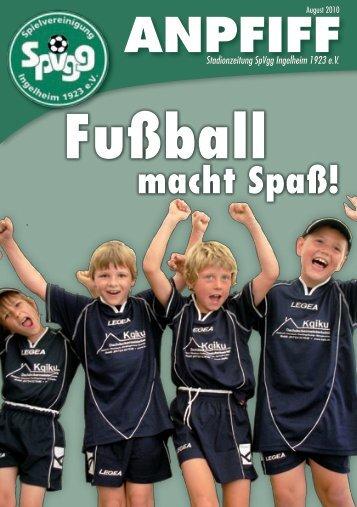 Ausgabe August - SpVgg Ingelheim