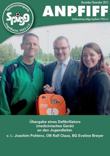 Ausgabe November/Dezember - SpVgg Ingelheim
