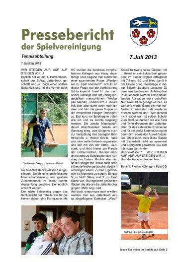 Spielberichte der Tennismannschaften - SpVgg Jettenbach e.V.