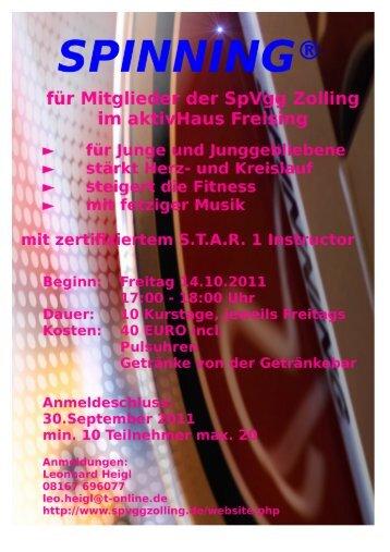 Spinning Training - SPVGG Zolling