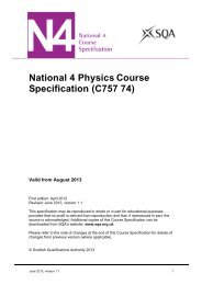 National 4 Physics Course Specification - Scottish Qualifications ...