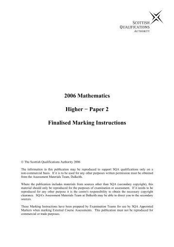 sqa intermediate 2 critical essay marking instructions
