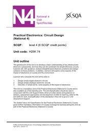 Practical Electronics: Circuit Design - Scottish Qualifications Authority