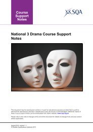 National 3 Drama Course Support Notes - Scottish Qualifications ...