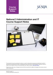 National 5 Administration and IT Course Support Notes - SQA