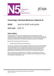 Individual Behaviour (National 5) - Scottish Qualifications Authority