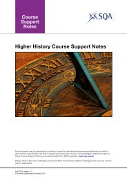 Higher History Course Support Notes - Scottish Qualifications Authority