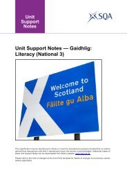 Unit Support Notes - Scottish Qualifications Authority