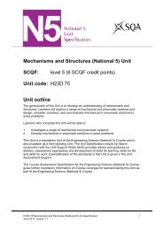 Mechanisms and Structures (National 5) - Scottish Qualifications ...