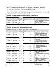 Level 2 NVQ Certificate in Customer Service (QCF) (501/2062/1 ...