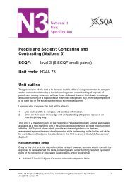 People and Society: Comparing and Contrasting (National 3) SCQF ...
