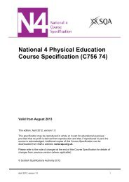 National 4 Physical Education Course Specification - Scottish ...