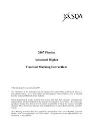 2007 Physics Advanced Higher Finalised Marking Instructions - SQA
