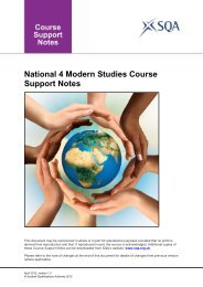 National 4 Modern Studies Course Support Notes - SQA