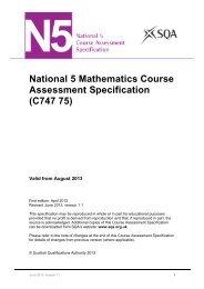 National 5 Mathematics Course Assessment Specification - Scottish ...
