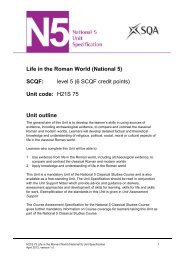 Life in the Roman World (National 5) - Scottish Qualifications Authority