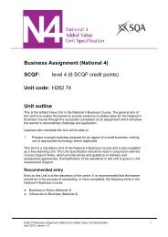 Business Assignment - Scottish Qualifications Authority