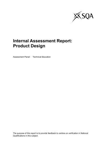 Internal Assessment Report: Product Design