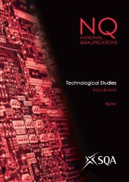 Technological Studies Higher Data Booklet - SQA