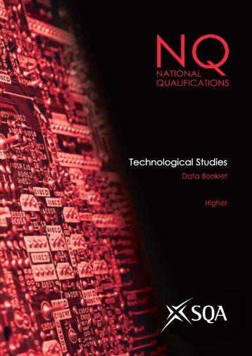 Technological Studies Higher Data Booklet - SQA