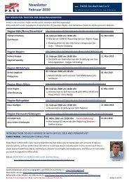 Newsletter Februar 2010 - PASS Deutschland e.V.
