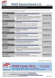 PASS Deutschland eV August 2011