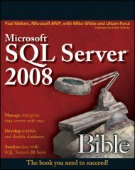 Ch 10: Merging Data with Joins and Unions - SQL Server Bible