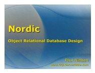 Nordic – Object Relational Database Design - SQL Server Bible