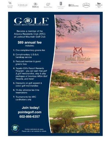 View detailed Arizona Residents Club membership application.